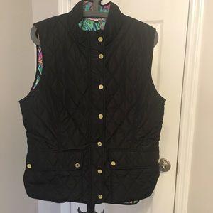 Lilly Pulitzer Black Vest - XL